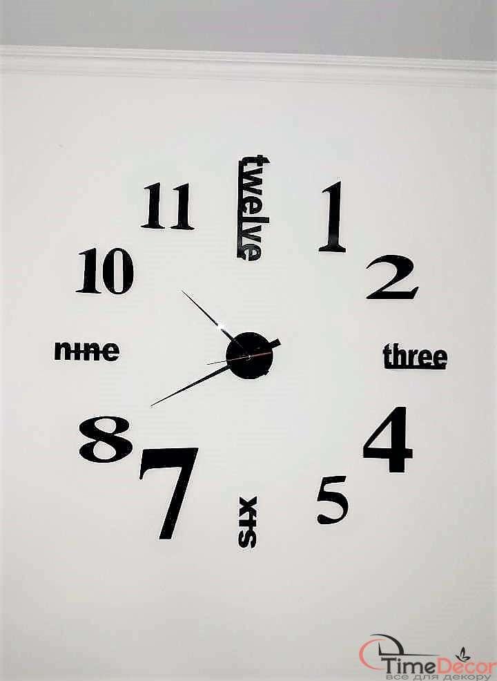 Станом на 08.03.2019  У наявності Щоденна Доставка по Україні - 40 %.  Великий настінний годинник 3D TIME. Великий настінний годинник 3D TIME d26e771368658