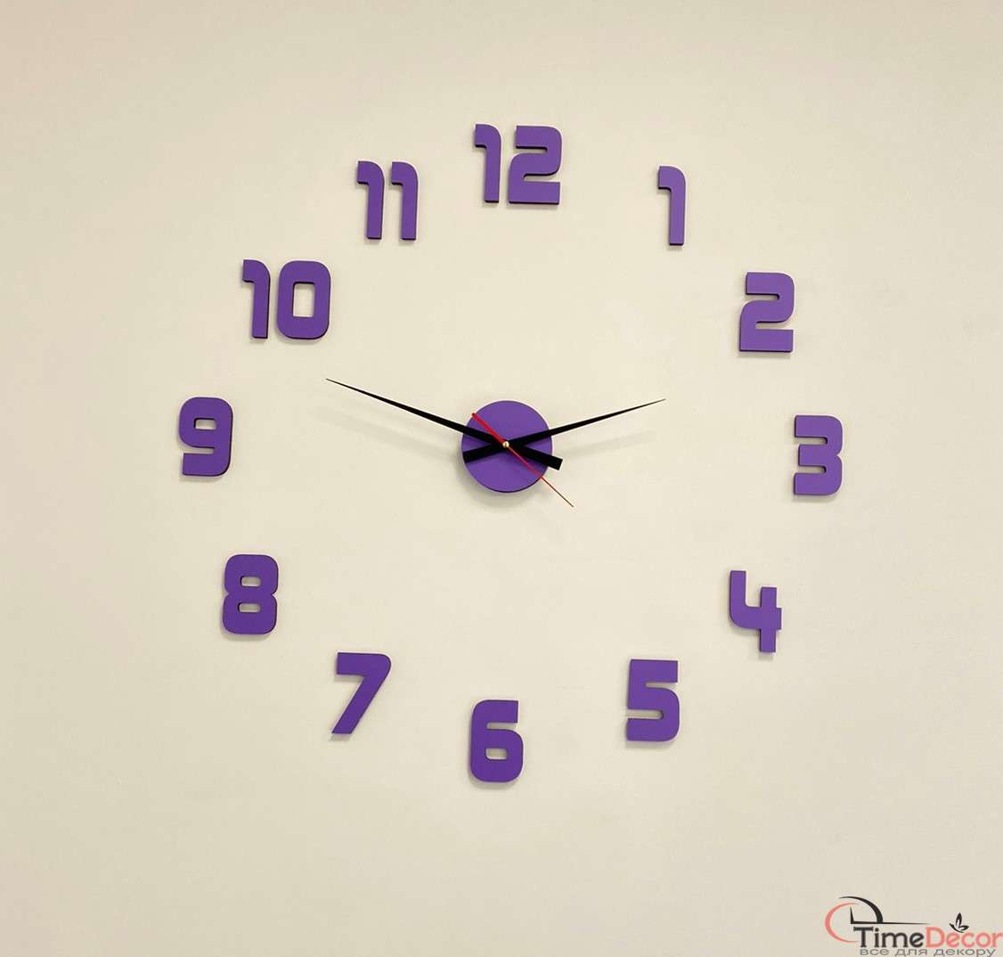 3D настінні годинники з цифрами - чорного кольору 58b1741c507a7
