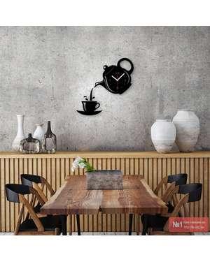 У наявності 3D настінний годинник для кухні - Чайник та кружка кави - Time  Decor 569 b11a1e4a3c4c1