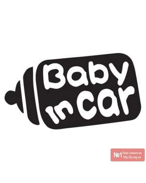Baby in Car - Наклейка на авто - Time Decor 629