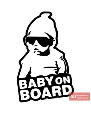 Baby on Board - Наклейка на авто - Time Decor 631