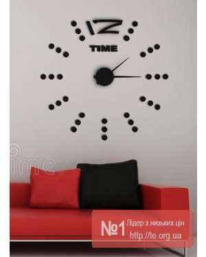 New 12 Time 3D годинник - Time Decor 749